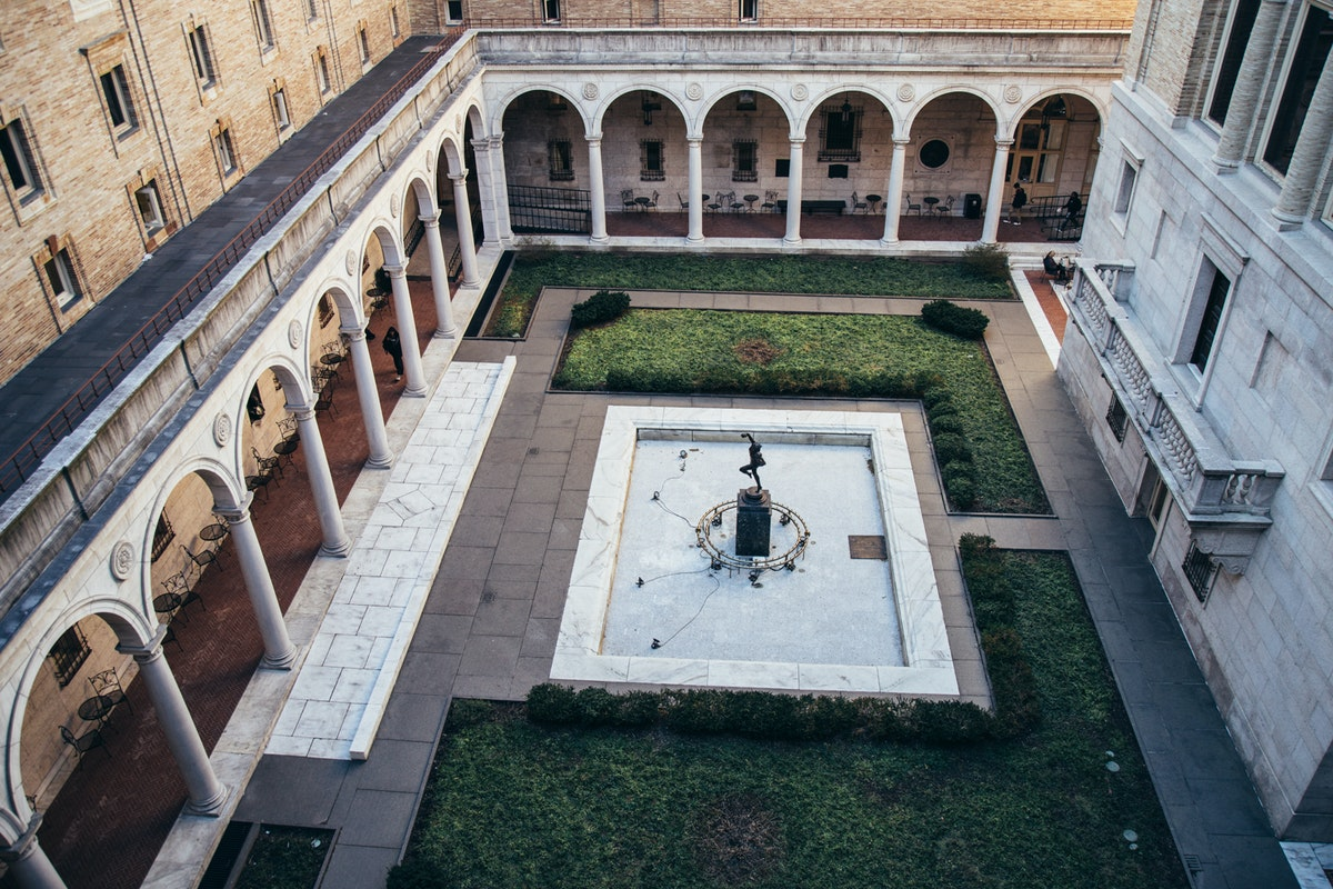 Courtyard at the Boston Public Library