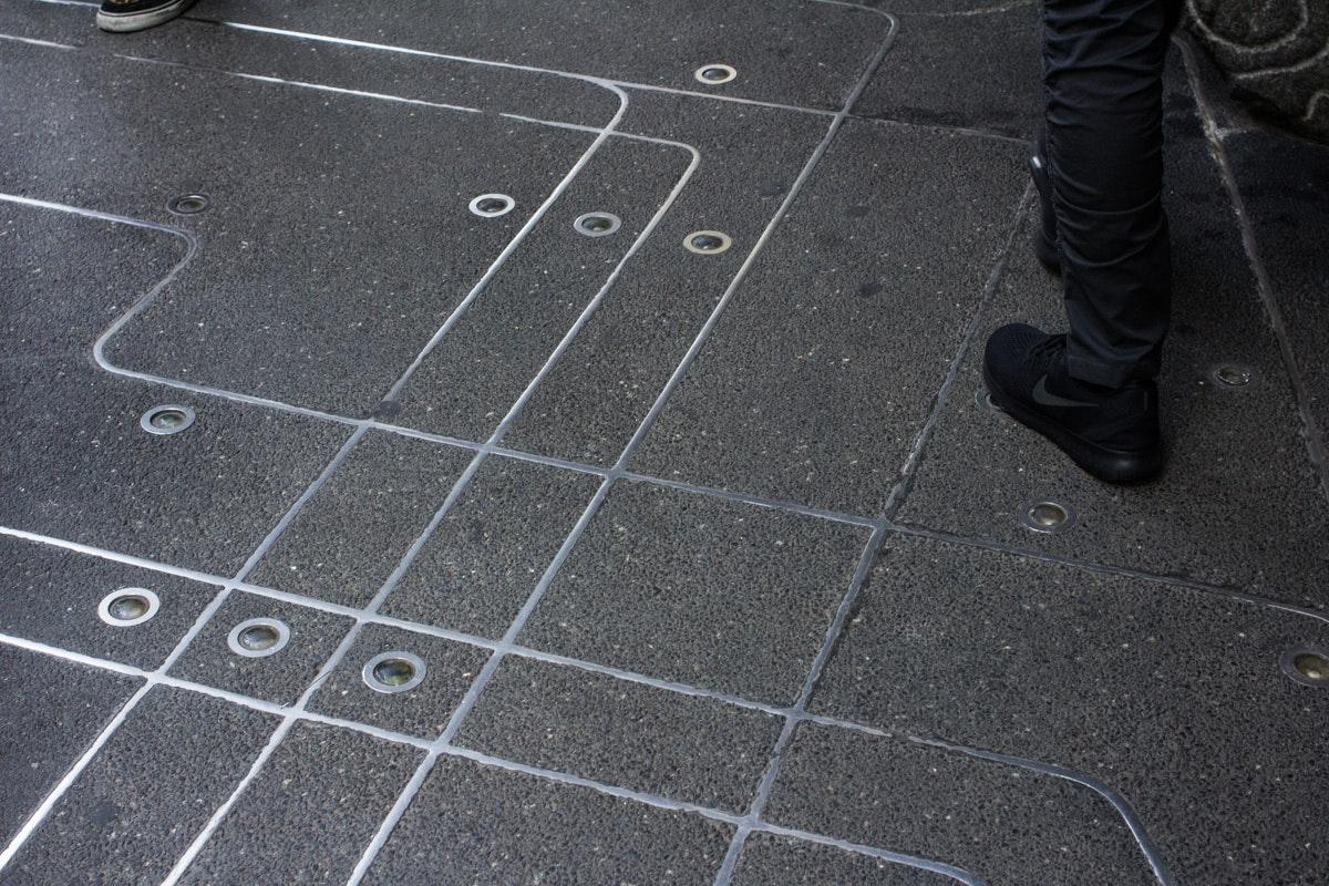 Sidewalk Subway Map Nyc.On The Grid Sidewalk Subway Map