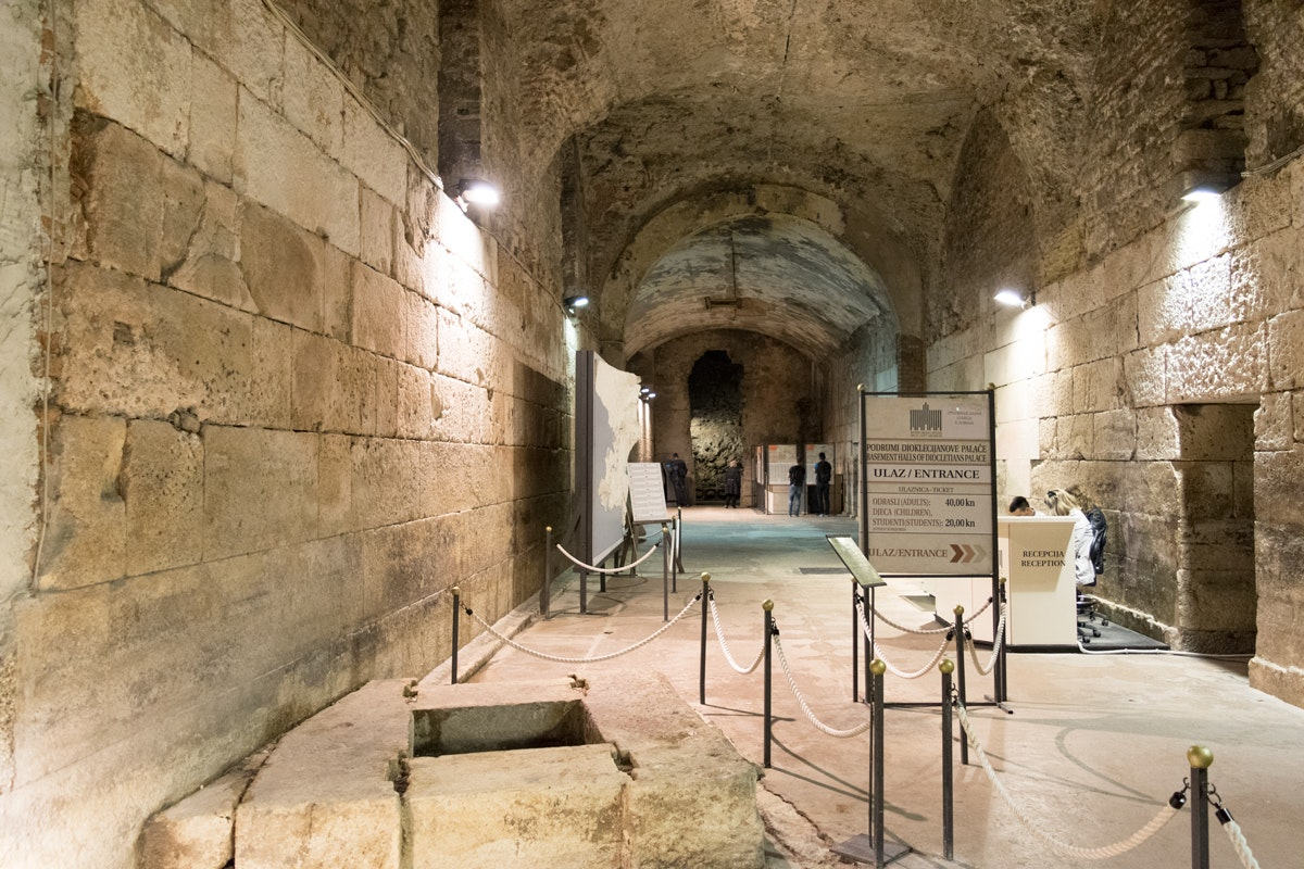 Image result for cellars of diocletian's palace split croatia