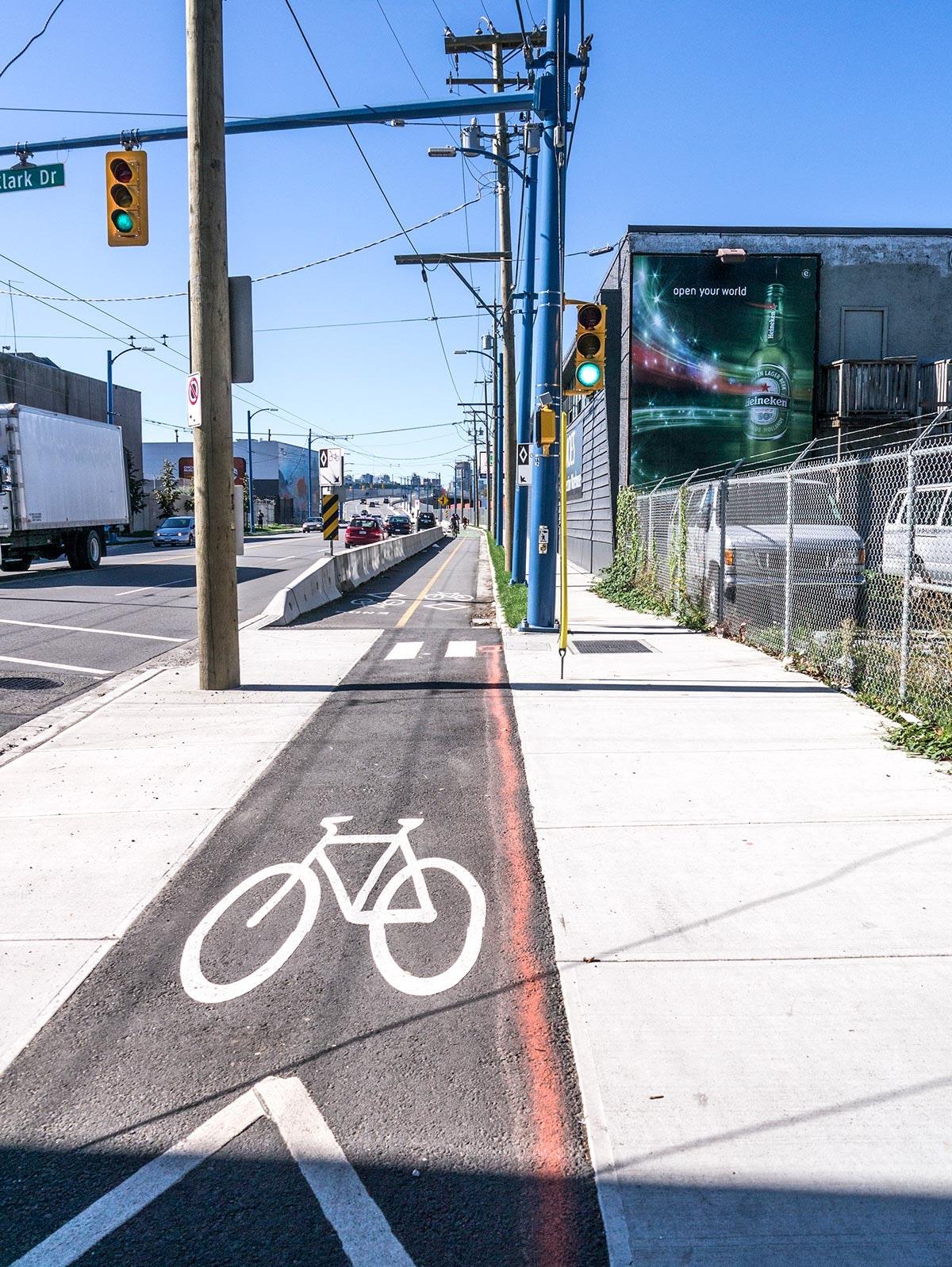 Powell Street Overpass bike lane
