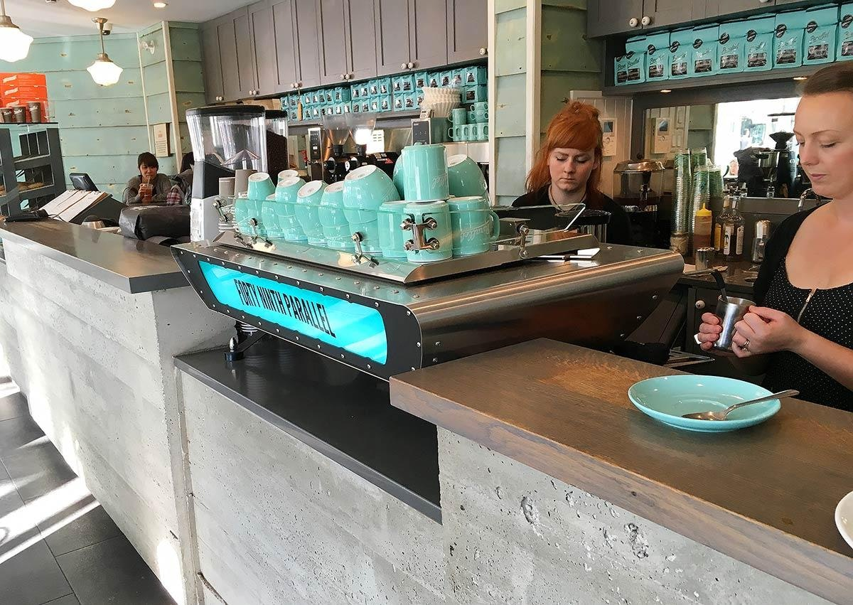 Forty Ninth Parallel Café & Lucky's Doughnuts